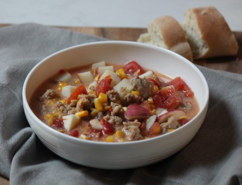 Corn Chowder with Chicken Sausage