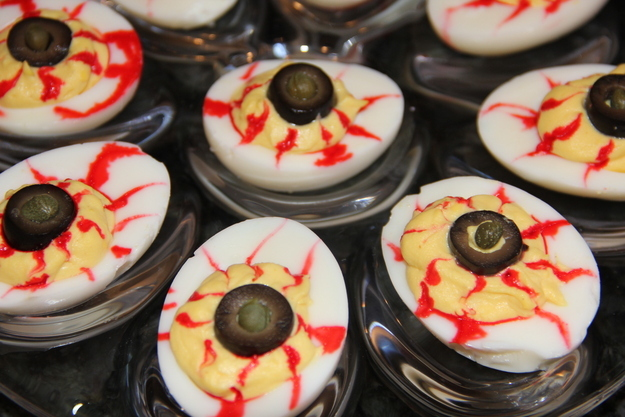 deviled egg eyeballs