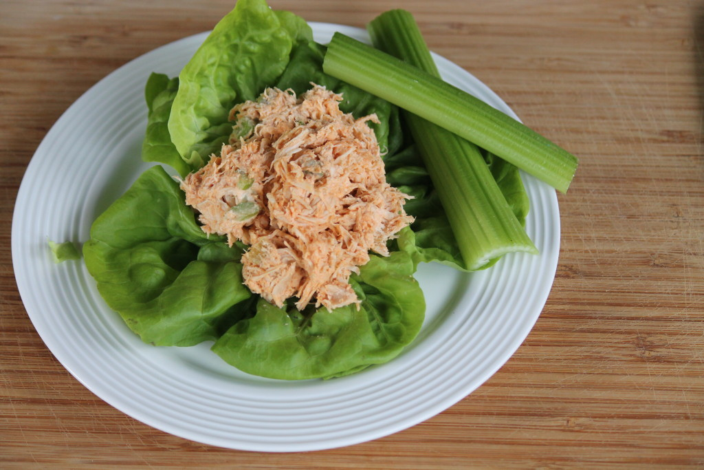 Shredded buffalo chicken salad