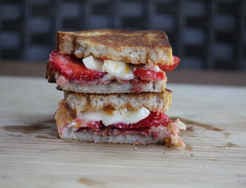 Strawberry, Bacon and Brie Grilled Cheese