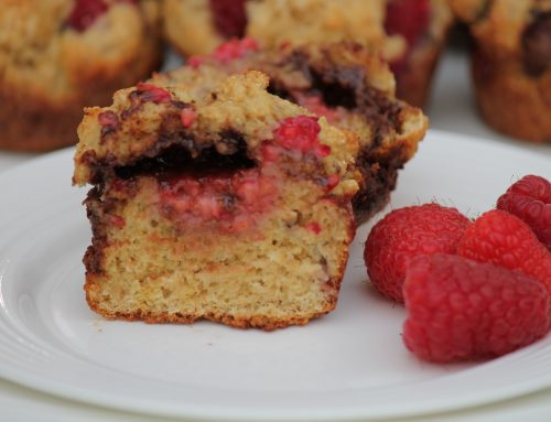 Raspberry Nutella Muffins
