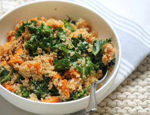 Sweet Potato, Quinoa and Kale Salad (gluten-free)