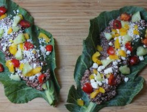 Collard Green Greek Quinoa Wrap